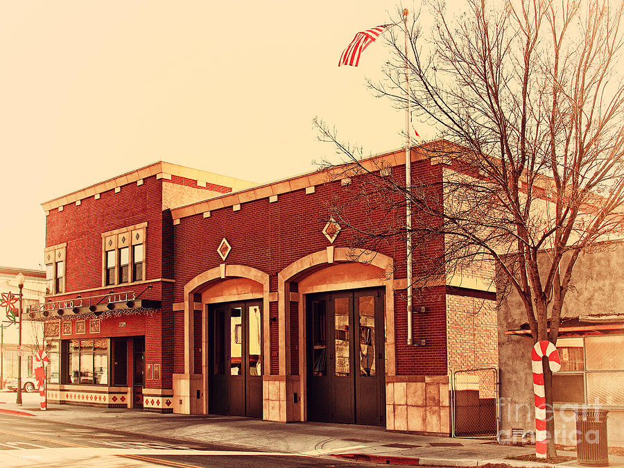 Retro Photograph - Historic Niles District In California Near Fremont . Niles Fire Station Number 2 . 7d10732 by Wingsdomain Art and Photography