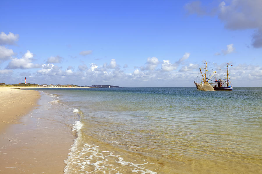 Fishing Boat Photograph - Hoernum - Sylt by Joana Kruse