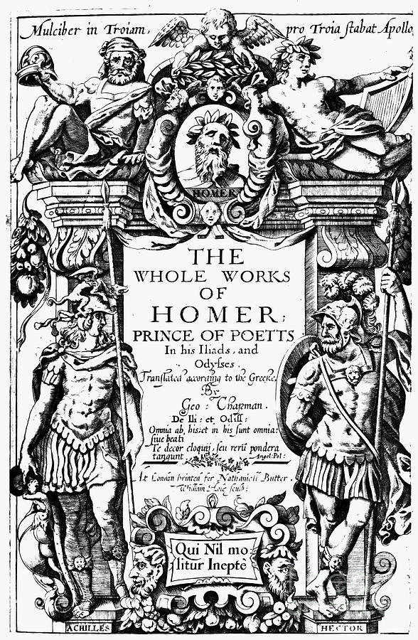 1616 Photograph - Homer Title Page, 1616 by Granger