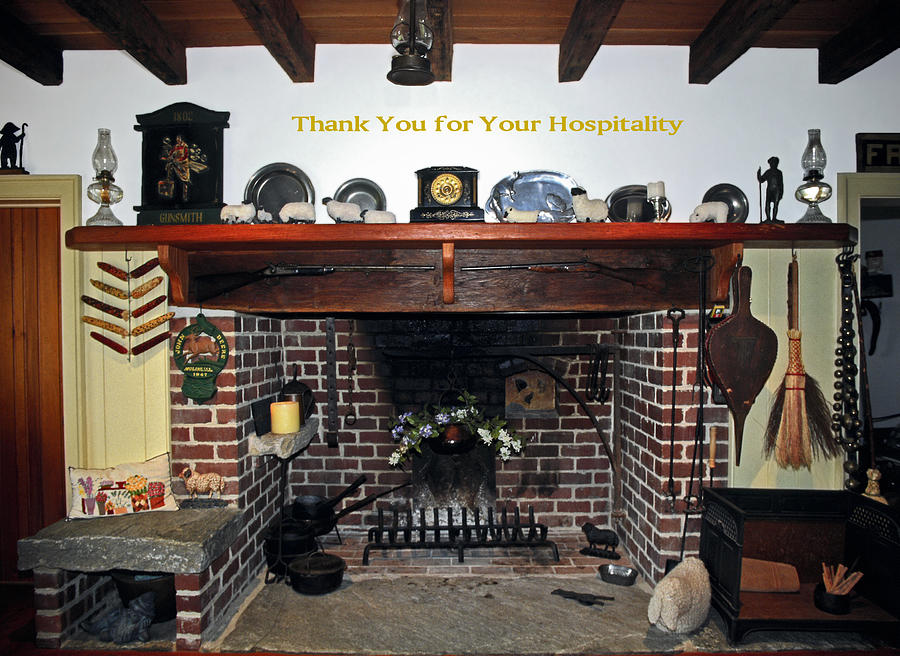 Thank You Photograph - Hospitality by Sally Weigand