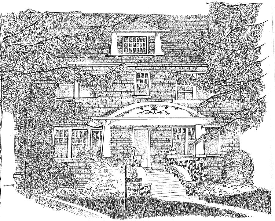 Your Home Drawing - House / Home Rendering by Marty Rice