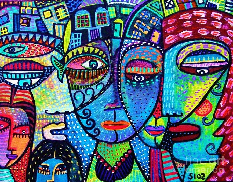 House Of Love And Diversity Painting By Sandra Silberzweig