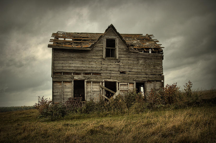 House Photograph - House On The Hill by Heather  Rivet
