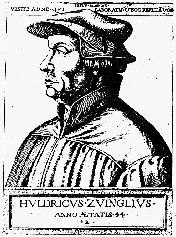 Asper Photograph - Huldreich Zwingli by Granger