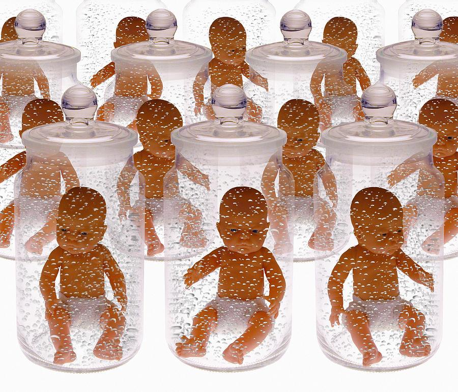 Fetus Photograph - Human Cloning by Victor De Schwanberg