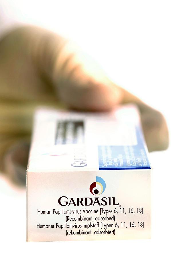 Gardasil Photograph - Human Papillomavirus Vaccine by Tim Vernon, Lth Nhs Trust