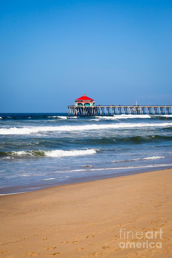 America Photograph - Huntington Beach Pier In Orange County California by Paul Velgos