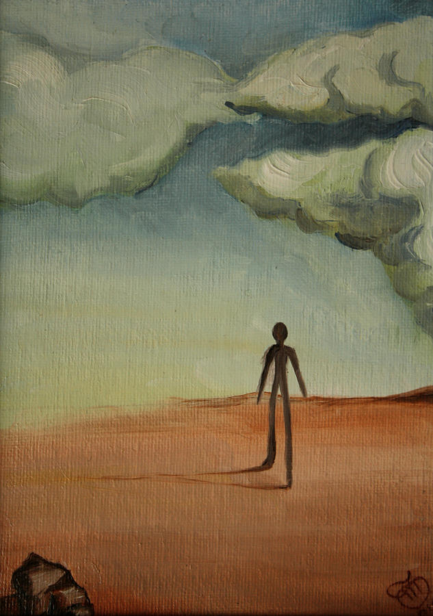 Desert Painting - Il Cammino 2010 by Simona  Mereu