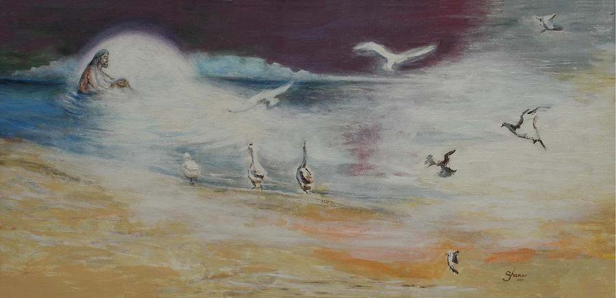 Baptism Painting - Immersion Of The Light by Bruce Shane