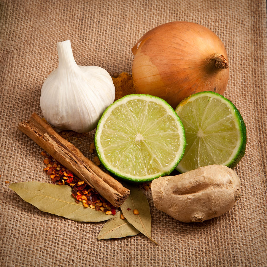 Aromatic Photograph - Ingredients by Tom Gowanlock