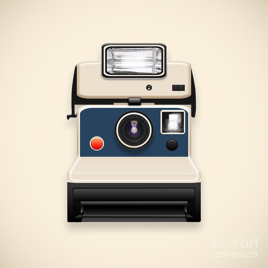 Analog Photograph - Instant Camera With A Blank Photo by Setsiri Silapasuwanchai
