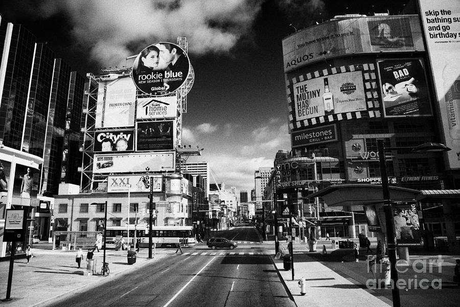 Yonge-dundas Photograph - Intersection Of Yonge And Dundas At Yonge-dundas Square Toronto Ontario Canada by Joe Fox