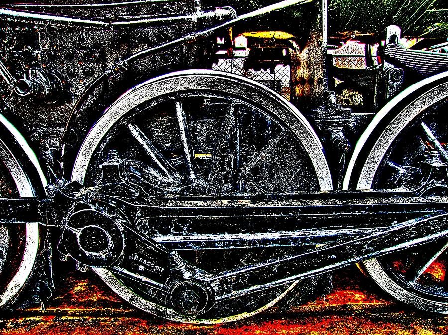 Train Photograph - Iron Hooves by HW Kateley