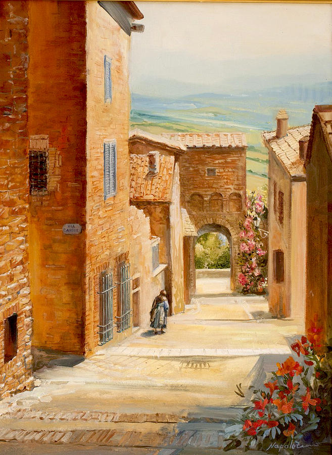 High Quality Italy Painting   Italian Courtyard By Larisa Napoletano