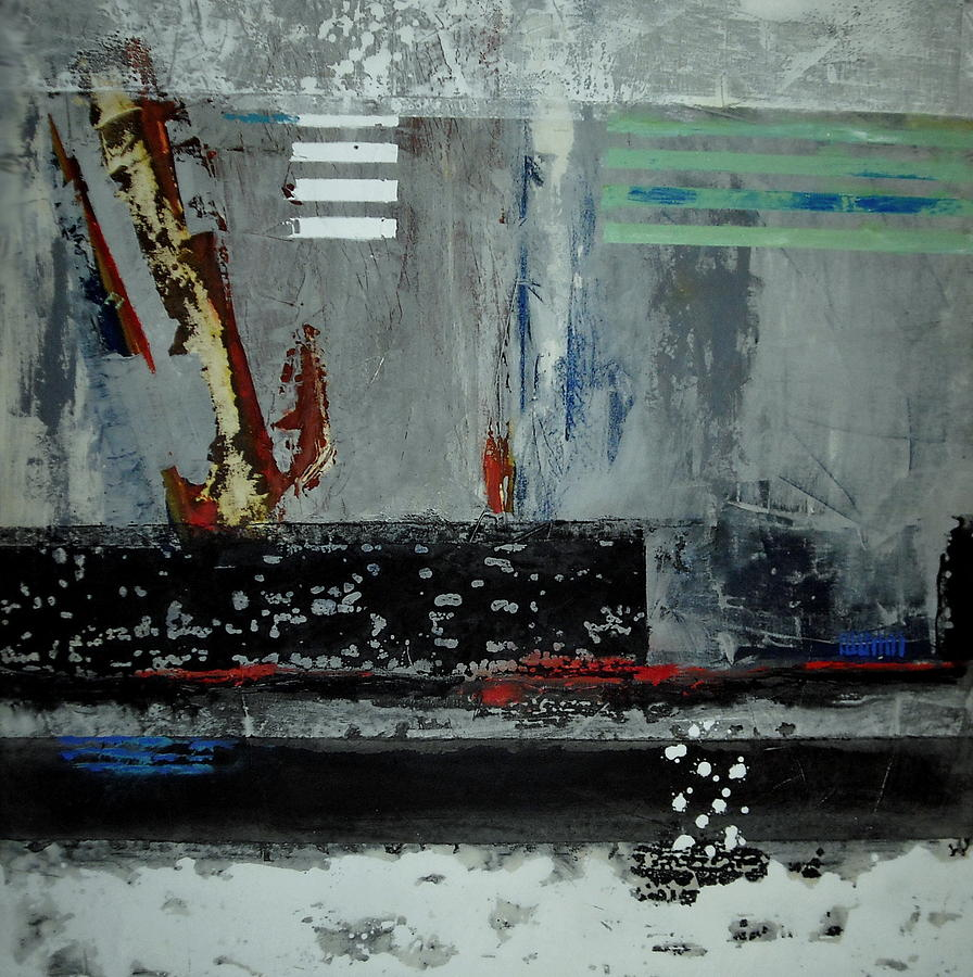 Abstract Paintings Paintings Painting - Its Cold by Mohamed KHASSIF