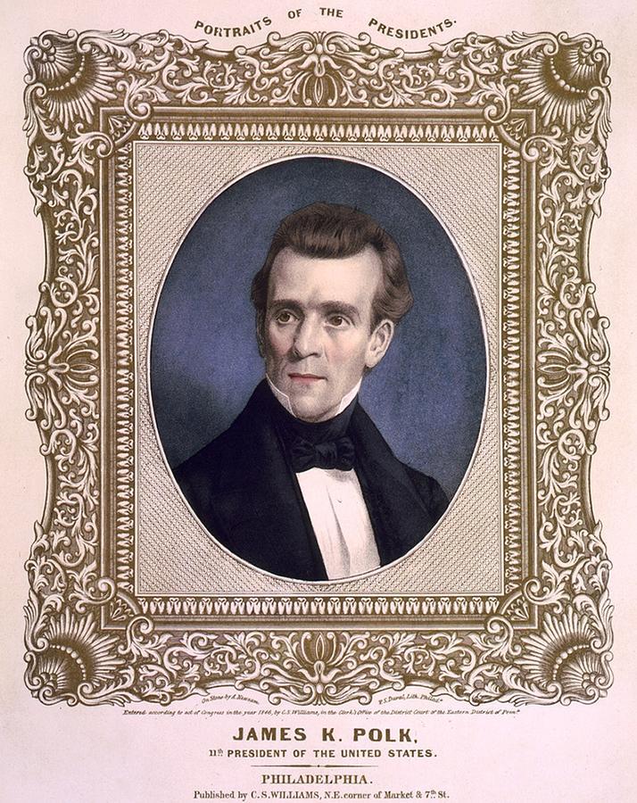 History Photograph - James Polk 1795-1849 President by Everett