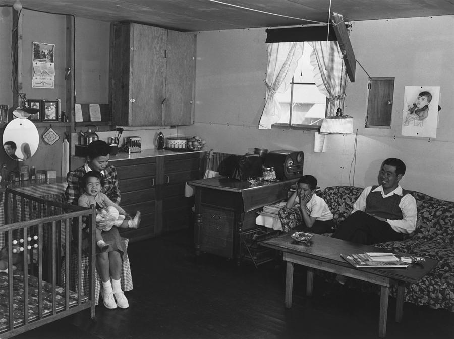 History Photograph - Japanese American Family Interned by Everett
