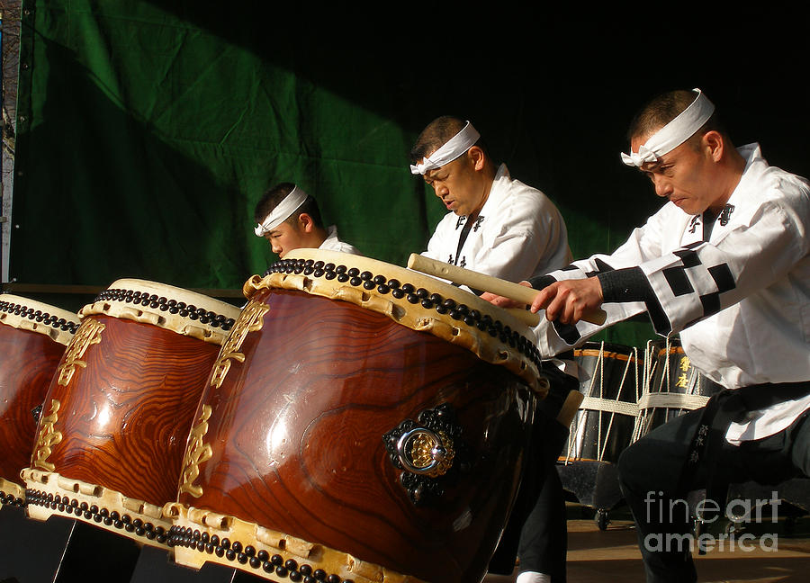 Japanese Photograph - Japanese Drums by Manuel Fernandes