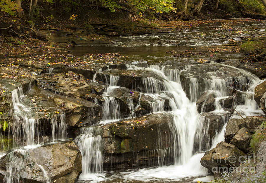 Waterfall Photograph - Java Falls In Autumn by Darleen Stry