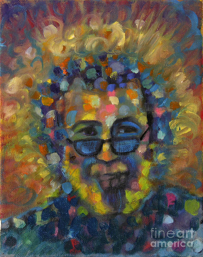 Jerry Garcia Paintings Painting - Jerry 2 by Pam Baker
