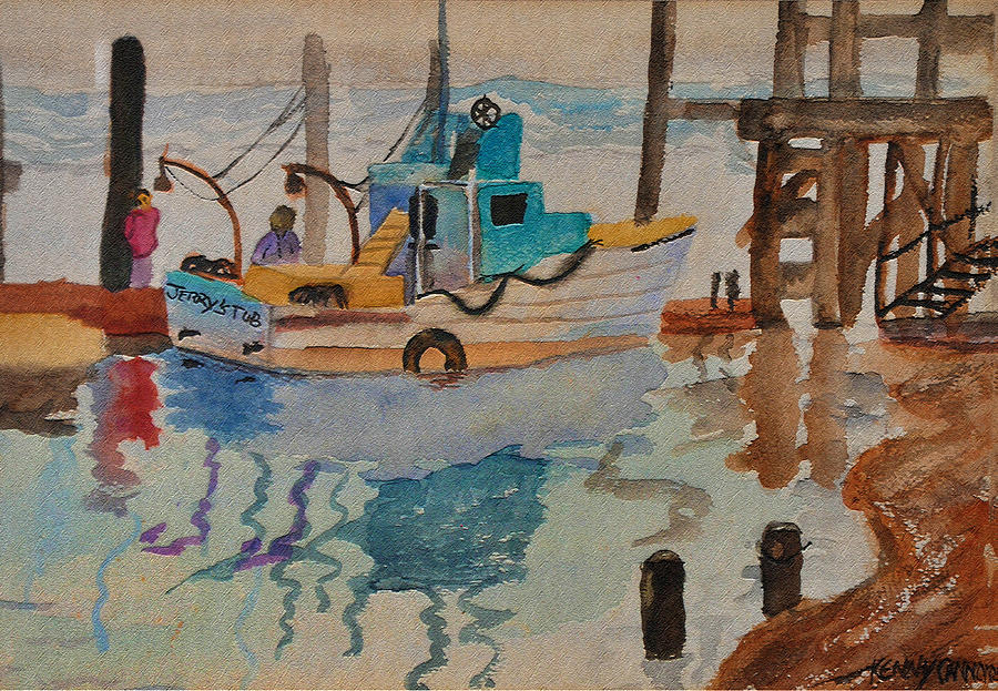 Boat Painting - Jerrys Tub by Kenny Cannon