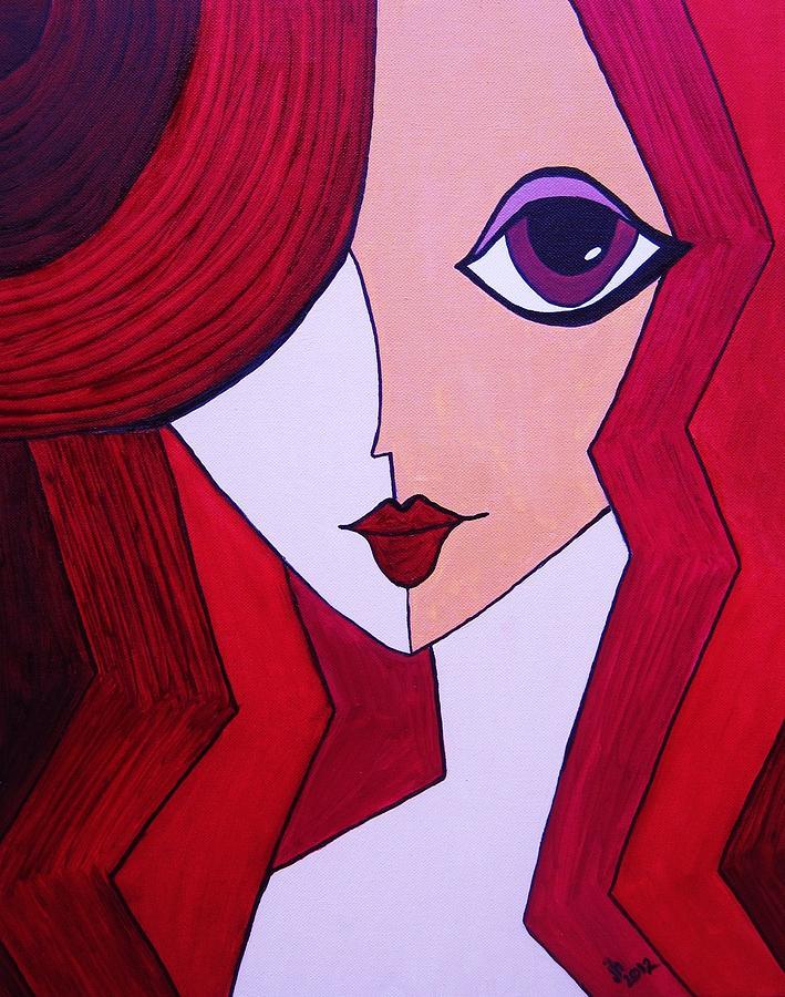Jeseeka Painting by Janice Heinzelman