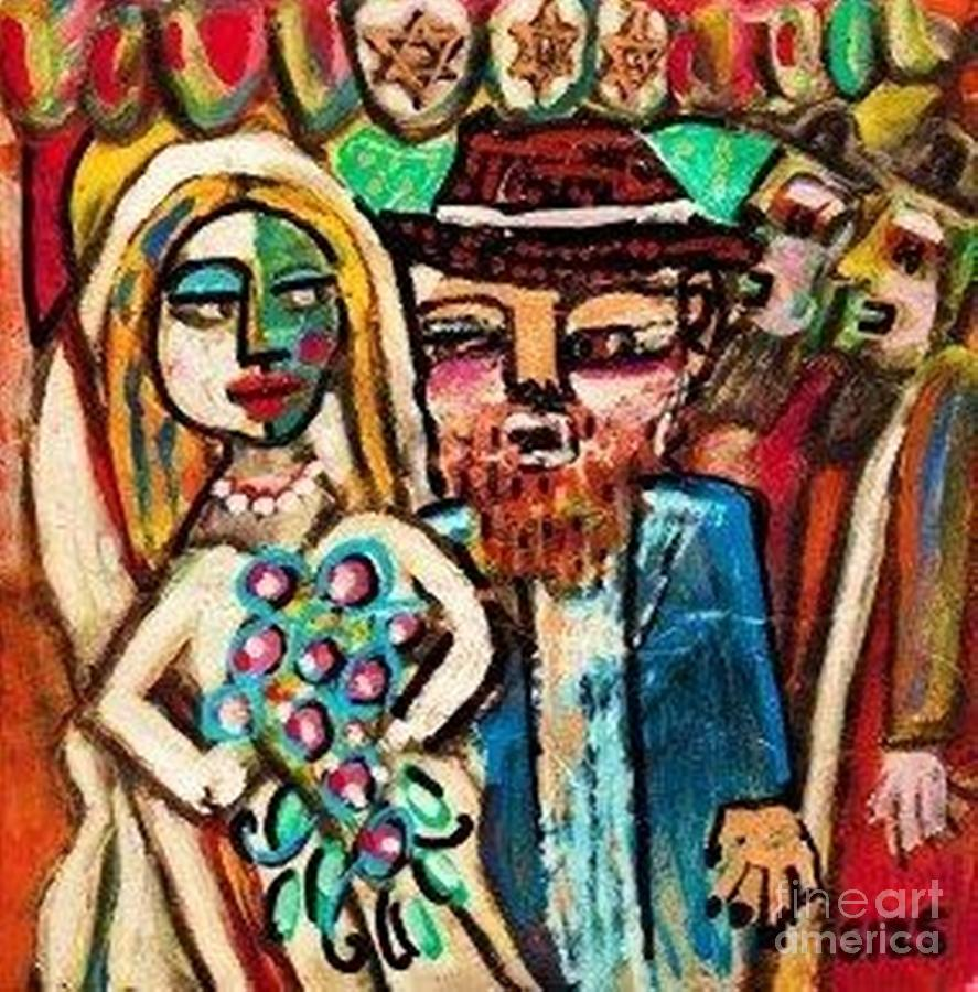 Jewish Wedding Under The Chuppah Painting By Sandra