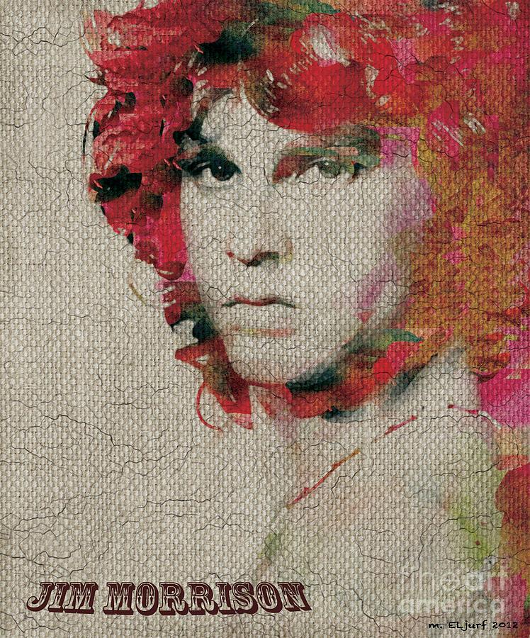 Jim Morrison Digital Art by Max Cooper