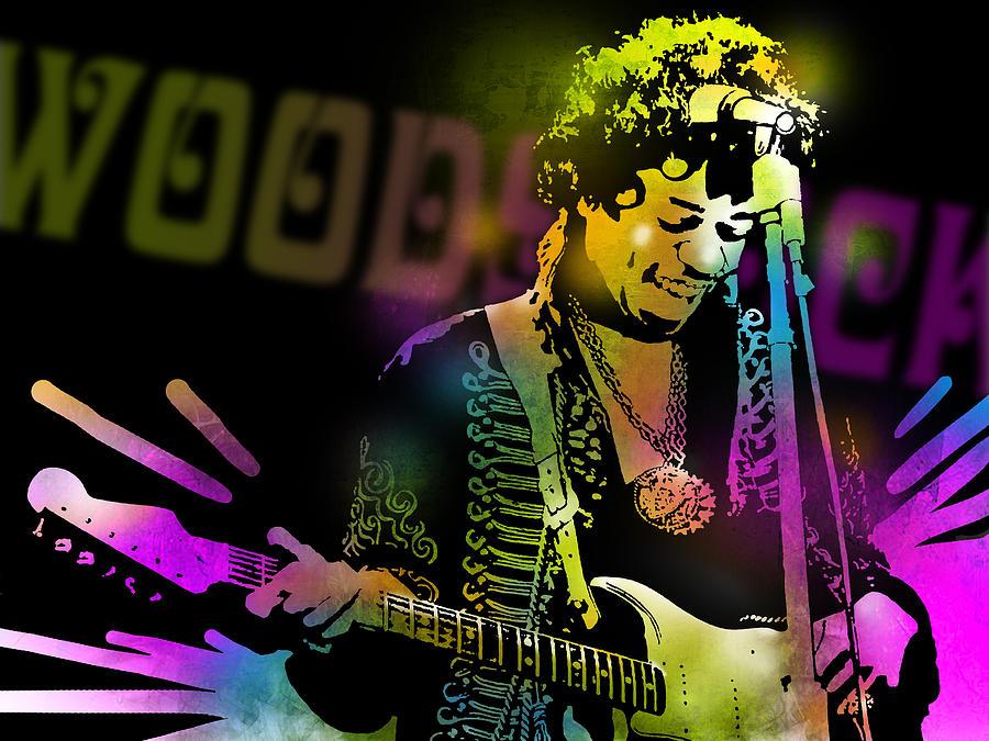 Blues Painting - Jimi Hendrix by Paul Sachtleben