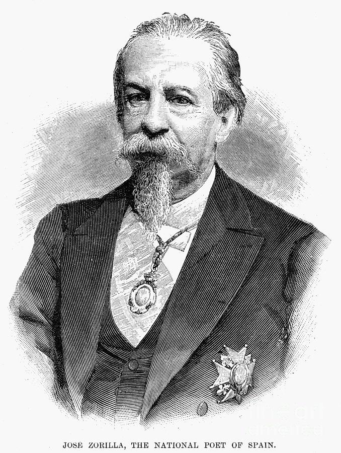 1889 Photograph - Jos� Zorrilla Y Moral by Granger