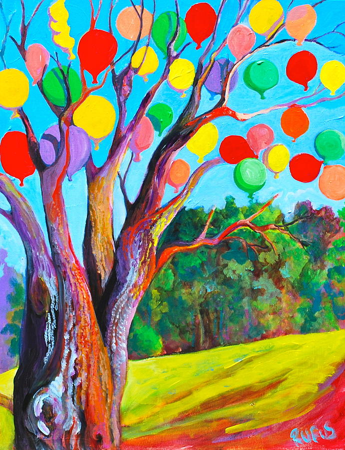 Tree Painting - Journeys End by Rufus Norman