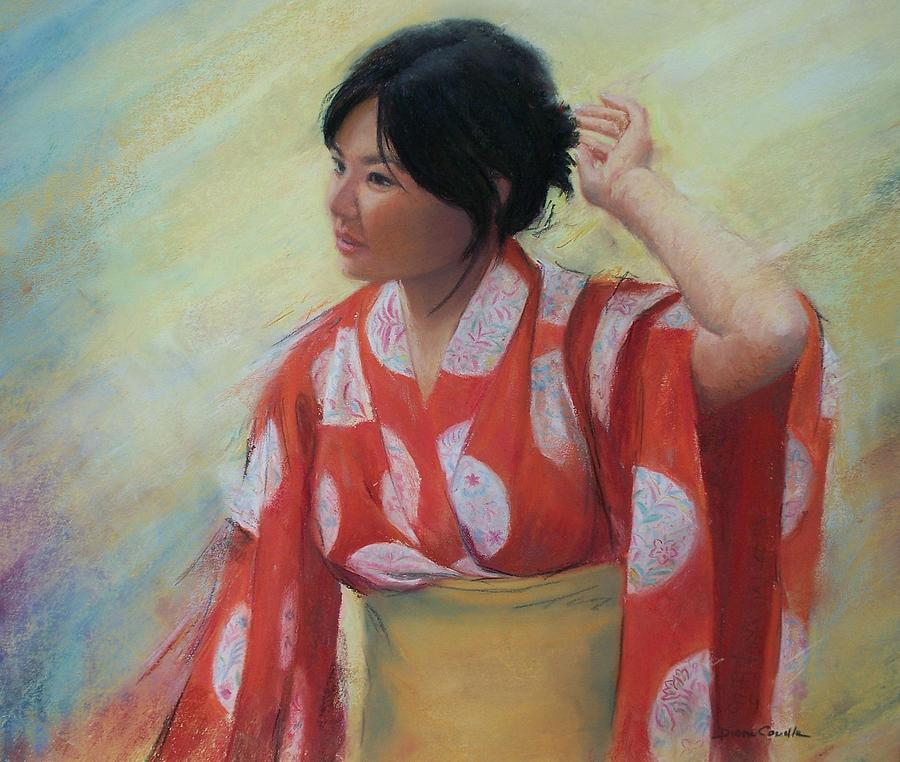 Japanese Painting - Kanae by Diane Caudle