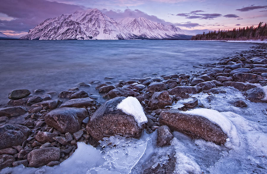 Light Photograph - Kathleen Lake At Sunrise, Kluane by Robert Postma