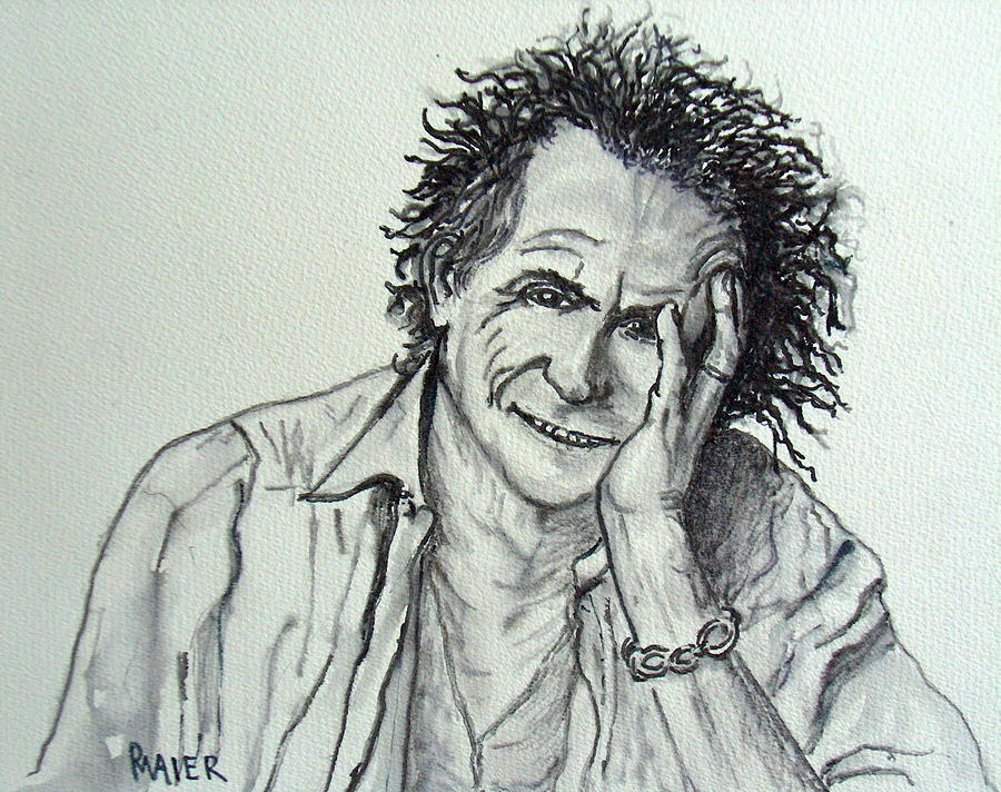 Keith Richards Painting - Keef by Pete Maier