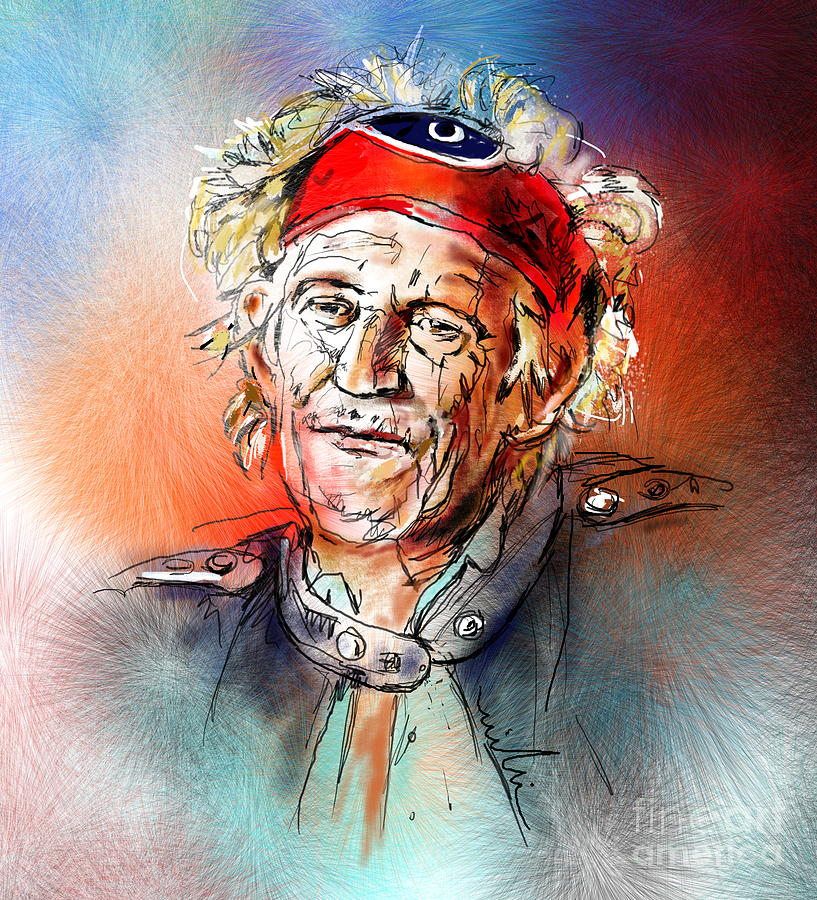 Keith Painting - Keith Richards by Miki De Goodaboom