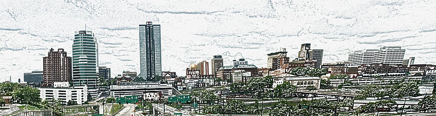 Abstract Digital Art - Knoxville Panorama 1 by Bill Kennedy