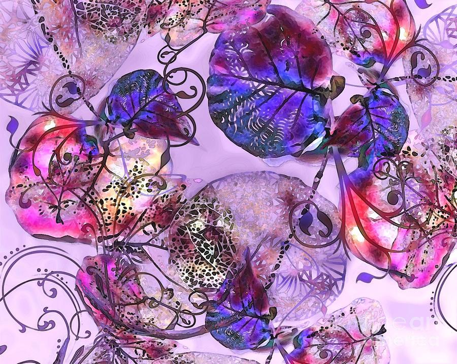 Leaves Digital Art - Lacey Leaves by Ruth Kongaika