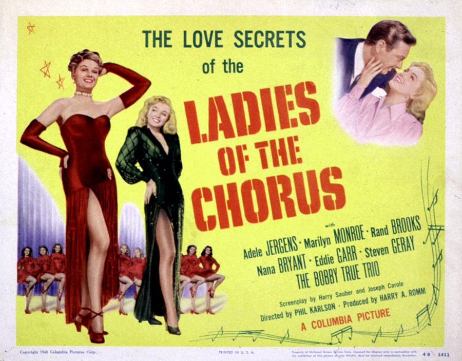 1940s Movies Photograph - Ladies Of The Chorus, Adele Jergens by Everett