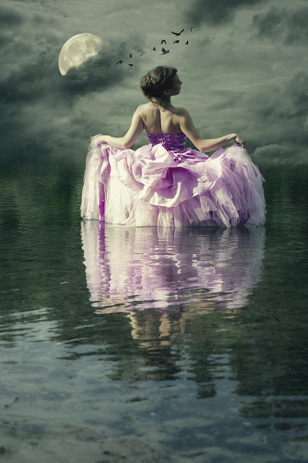 Female Photograph - Lady In The Lake by Joana Kruse