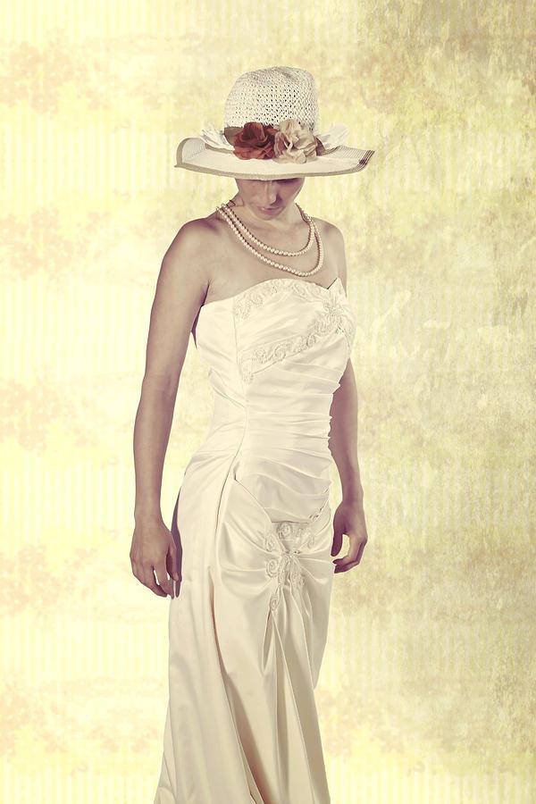 Female Photograph - Lady In White Dress by Joana Kruse