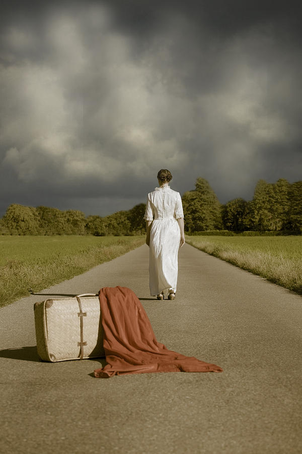 Female Photograph - Lady On The Road by Joana Kruse
