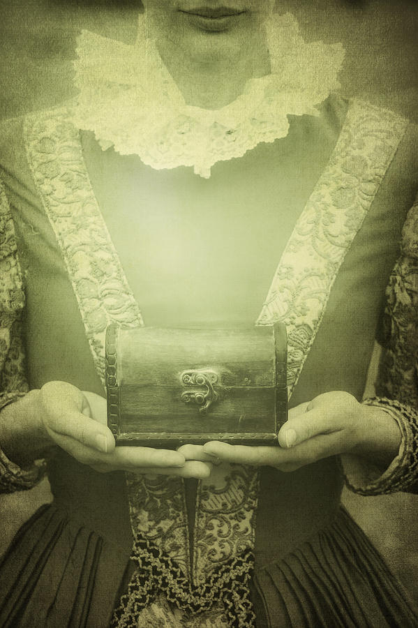 Female Photograph - Lady With A Chest by Joana Kruse