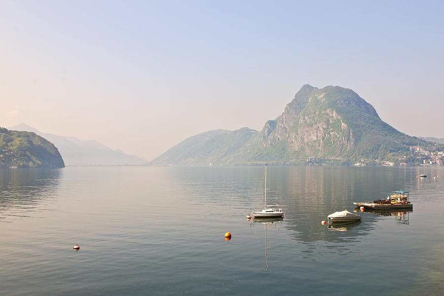 Travel Photograph - Lago Di Lugano by Joana Kruse
