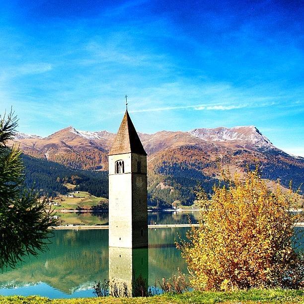 Outdoor Photograph - Lago Di Resia - Alto Adige. reshen by Luisa Azzolini