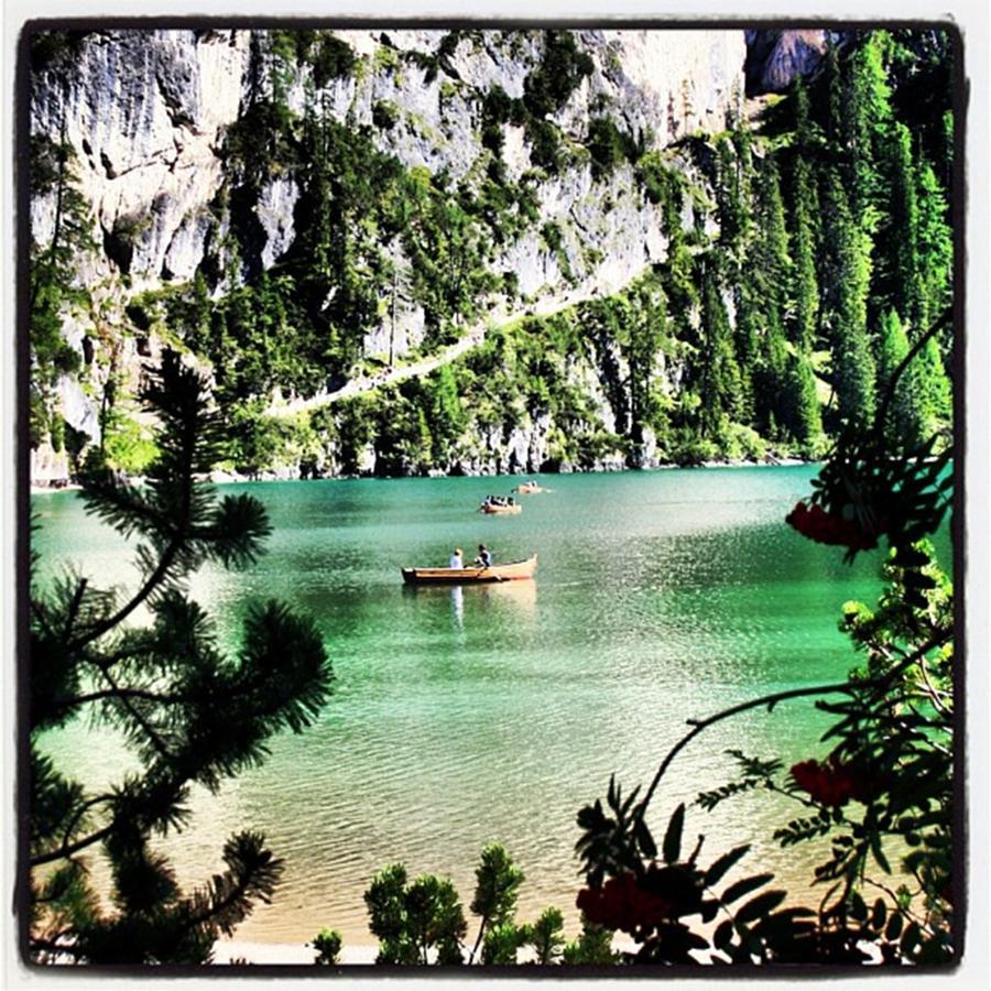 Lake Photograph - Lake of Braies - South Tyrol by Luisa Azzolini