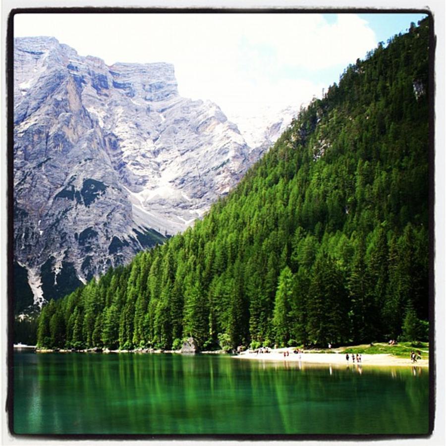 Dolomites Photograph - Lake of Braies by Luisa Azzolini