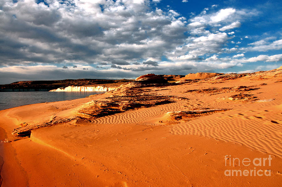 Lake Powell Photograph - Lake Powell Morning Clouds by Thomas R Fletcher