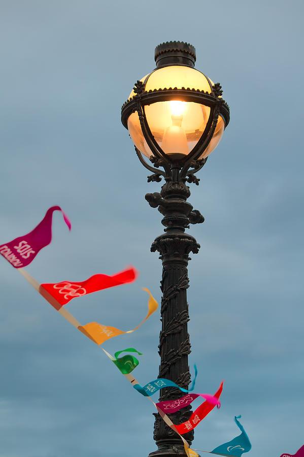 London Photograph - Lamp Light by Shirley Mitchell