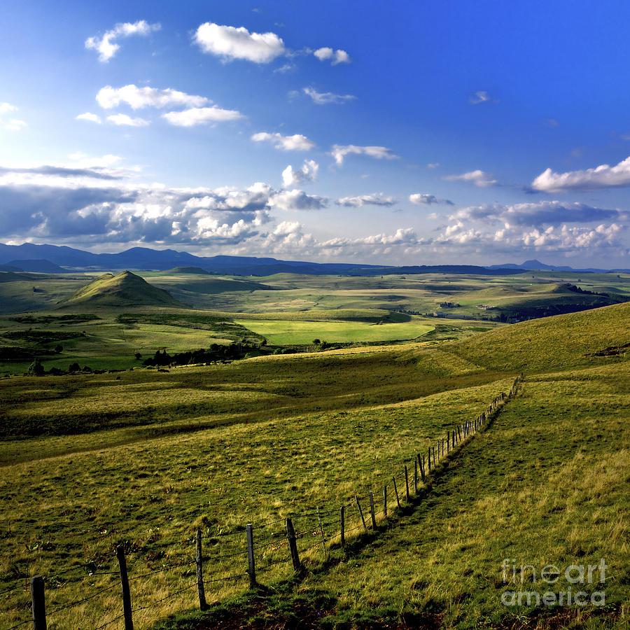 Landscape Of Cezallier Auvergne France Photograph By