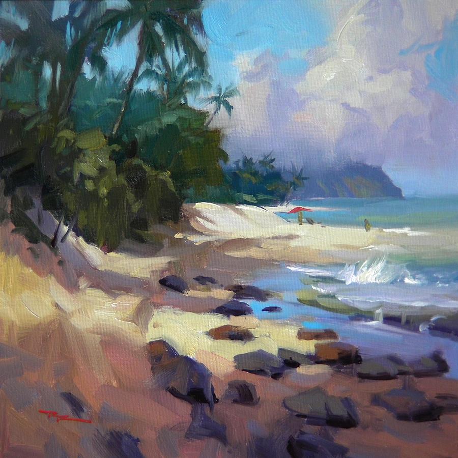 Hawaii Painting - Laniakea by Richard Robinson
